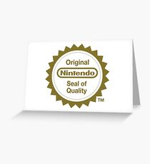 Nintendo Original Seal of Quality Greeting Card