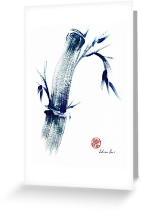 MEDITATE - Zen wash painting by Rebecca Rees