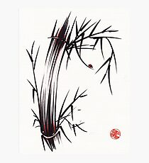 Adventurous Spirit - Sumi Sumie Ink Brush Painting Photographic Print