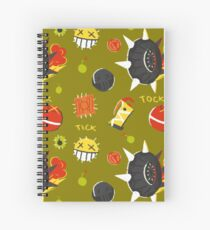 Junkrat Pattern Spiral Notebook