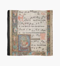 Christmas scene in a 16th century illuminated manuscript Scarf