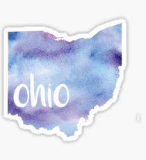 Aquarell Ohio Sticker