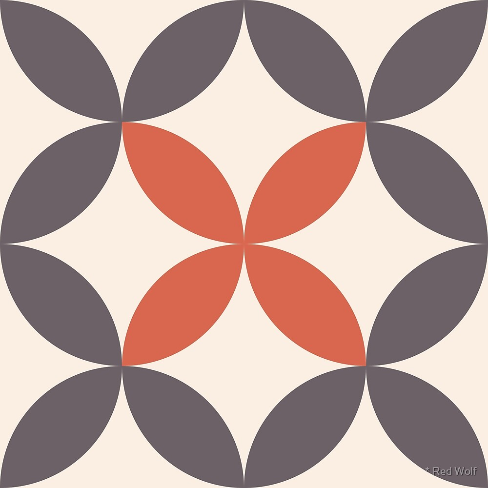 Geometric Pattern: Circle Nested: Brick by * Red Wolf