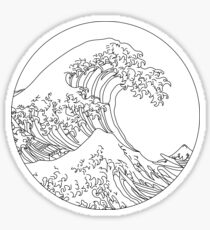 Minimalist Great Wave Sticker