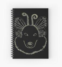 Fair Hound Midnight by IdeaJones Spiral Notebook