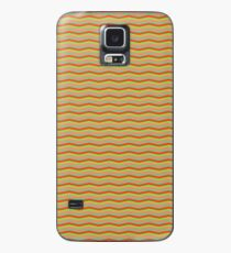 Red and Gold Metallic Chevron Wavy Stripe ZigZag Pattern Case/Skin for Samsung Galaxy
