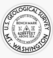 HIKING CLIMBING MOUNT WASHINGTON HEW HAMPSHIRE USGS GEOCACHING BENCHMARK BENCH MARK GEOLOGICAL SURVEY Sticker