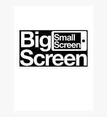 Big Screen Small Screen Photographic Print