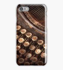 Steampunk - Typewriter - Too tuckered to type iPhone Case/Skin