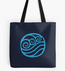Waterbending Symbol (light) Tote Bag
