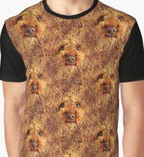 Shaggy Dog Face Graphic T-Shirt
