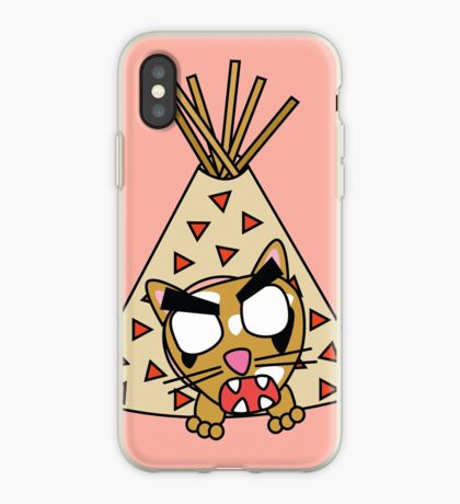 zombie cat cleo in a teepee iPhone Case