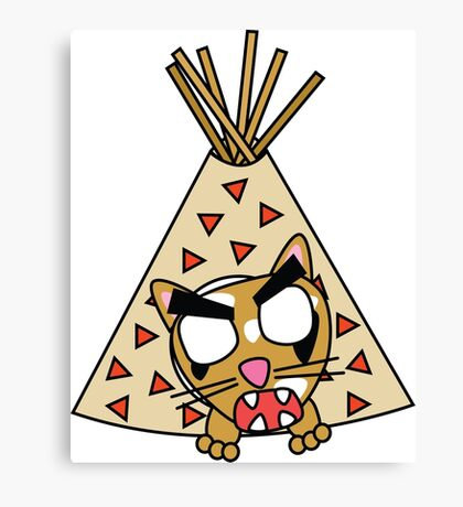 zombie cat cleo in a teepee Canvas Print