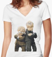 Statler and Waldorf Women's Fitted V-Neck T-Shirt