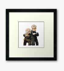 Statler and Waldorf Framed Print