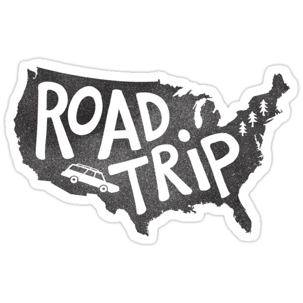 Quot Road Trip Usa Quot Stickers By Cabinsupplyco Redbubble
