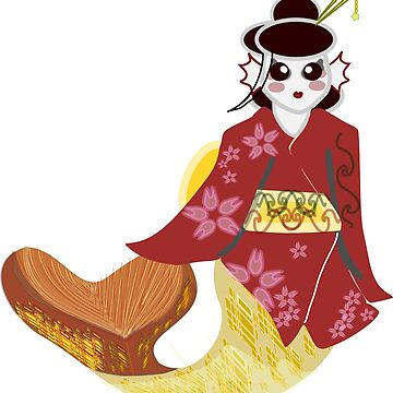 Geisha Mermaid  by HalfNote5
