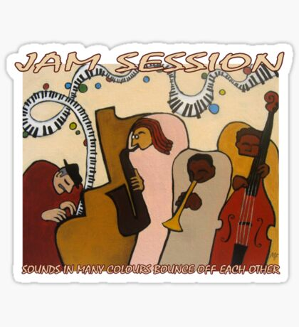 Jam Session T-Shirt Sticker