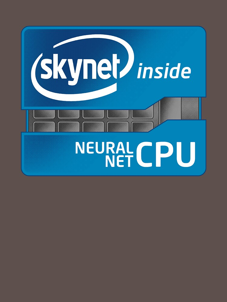 Skynet Inside Intel CPU Parody T-Shirt