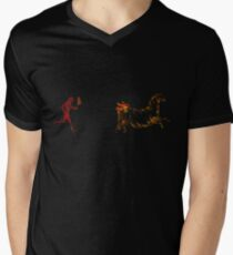 The Discovery of Fire #1 Men's V-Neck T-Shirt