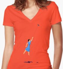 Get carried away! Women's Fitted V-Neck T-Shirt