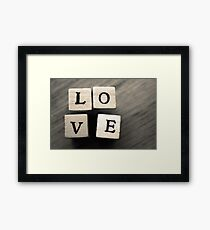 LOVE Wooden Letter Blocks Art  Framed Print