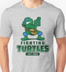 Fighting Turtles - Leonardo Unisex T-Shirt