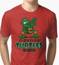 Fighting Turtles - Michelangelo Tri-blend T-Shirt