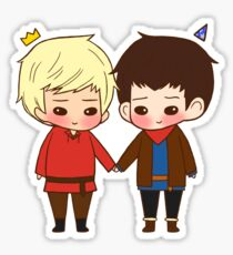 A King and His Sorcerer / A Sorcerer and His King Sticker