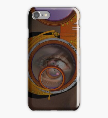 eye as a lens - steampunk iPhone Case/Skin
