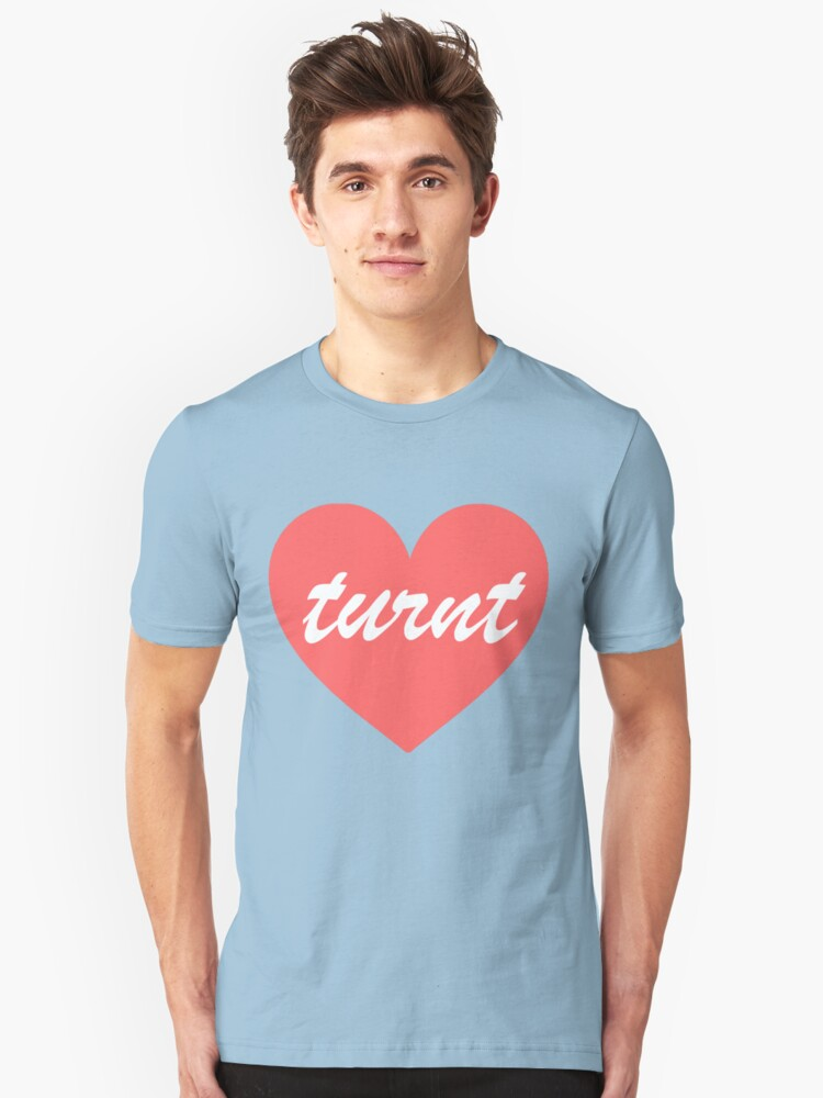 Turnt Heart - Pink Unisex T-Shirt Front