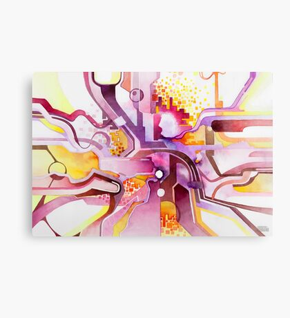 Sunberry - Abstract Watercolor Painting Canvas Print