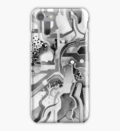 Sunberry - Abstract Watercolor Painting - Black and White iPhone Case/Skin