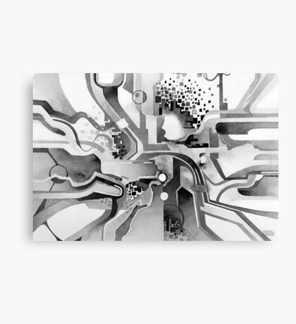 Sunberry - Abstract Watercolor Painting - Black and White Canvas Print