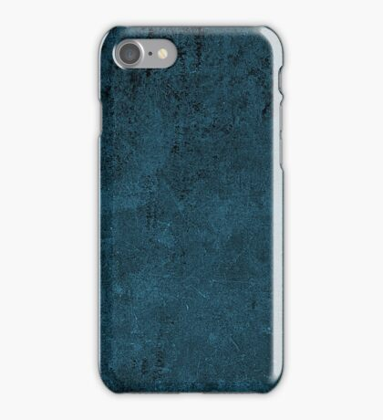 Grunge Leather Cow Hide Look In Peacock Blue iPhone Case/Skin