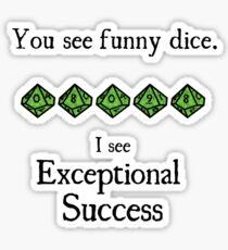 World of Darkness - Exceptional Success Sticker