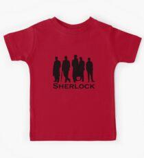 Sherlock Silhouettes  Kids Tee