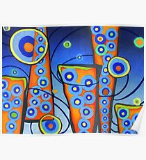 City Lights Pop Surrealism Abstract, Alma Lee Poster