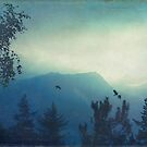 7 am - Hazy sunrise over the Italian Alps by Dirk Wuestenhagen
