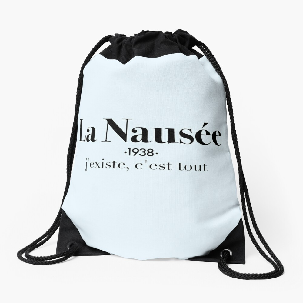 La Nausée Drawstring Bag