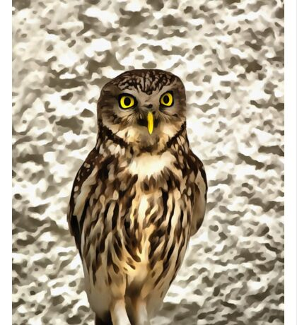 Small Owl In Camouflage Sticker