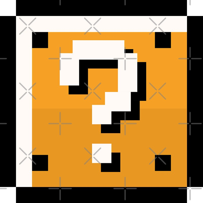 """""""8 bit retro Question block"""" Stickers by NXTprints 