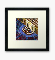 Election Infographic Parliament Hall Framed Print
