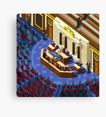 Election Infographic Parliament Hall Canvas Print