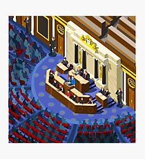 Election Infographic Parliament Hall Photographic Print