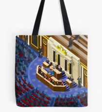 Election Infographic Parliament Hall Tote Bag