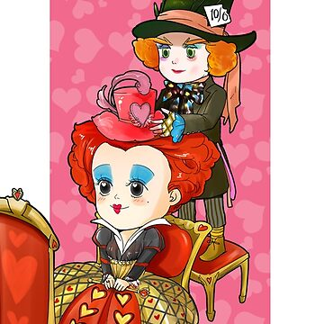 Hatter and Queen by Amoy