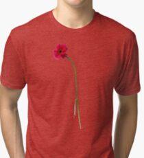 single red gerbera Tri-blend T-Shirt