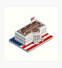 Election Infographic USA White House Art Print