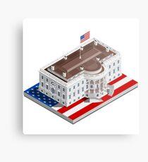 Election Infographic USA White House Metal Print